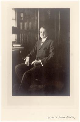 Wickliffe Preston Draper (1891-1972), handwritten on back in ink