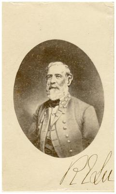 General Robert Edward Lee (1807-1870) C.S.A.; eventually named commander-in-chief of Confederate forces