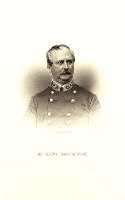 Major General William Preston (1816-1887), C.S.A.; Lexington, Kentucky native; served in the Kentucky State Legislature