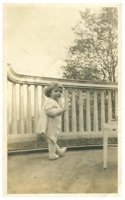 Preston Davie, Jr., as infant, handwritten on back in ink