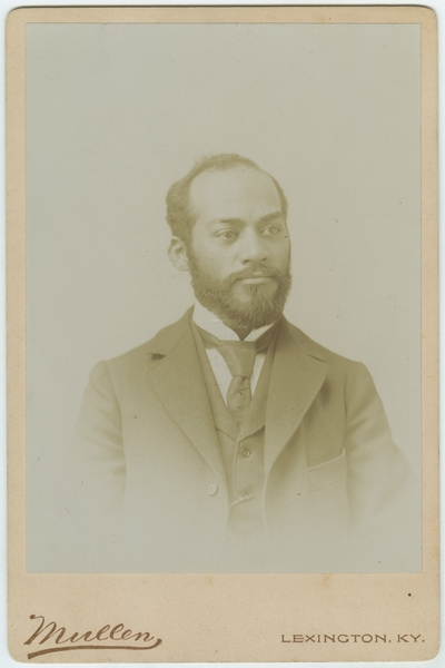 J. Alexander Chiles, African American real-estate agent and lawyer ; written on back