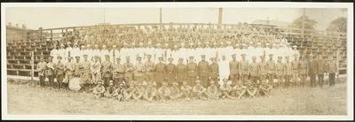 American Woodmen Unform Ranks at Camp Nicholas Biddle in Lousiville, Kentucky ; written on photograph,