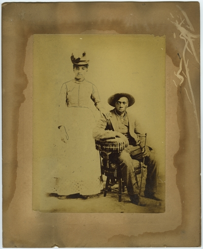 Unidentified African American male and female