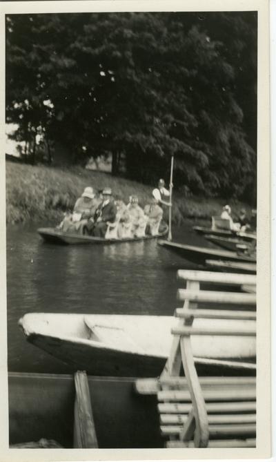 People in a rowboat Berlin vicinity Spreewald.