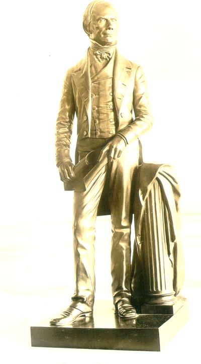 Photograph of standing sculpture of Henry Clay