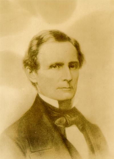 Photograph of painting of Jefferson Davis