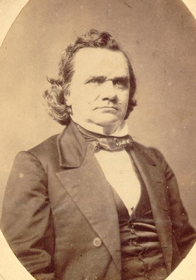 Photograph of Stephen Douglas: Photographed at the Whitehurst Gallery; Washington, D.C