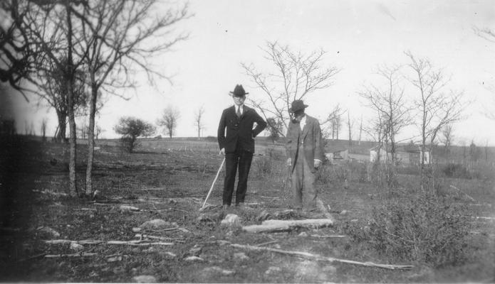 Indian Grave near site of Boones' Station, 1.2 miles E. of Athens, Fayette Co. KY. Sam Wilson and A.T. Parker