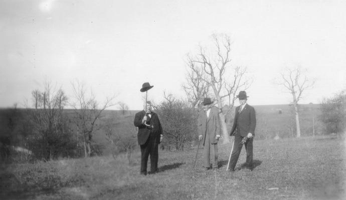 Site of Boones' Station 1.2 miles east of Athens, Fayette Co., KY. Maj. Sam Wilson, Hon. Pres. Kimball & A.T. Parker
