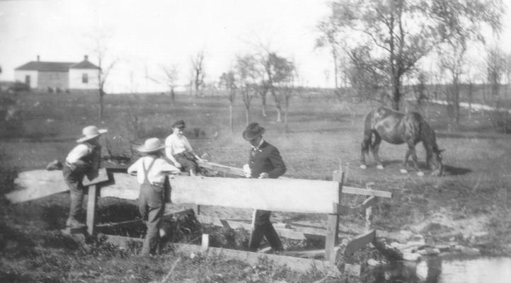 Spring near site of Boone Station, 1.2 miles east of Athens, Fayette Co. KY. Sam Wilson. April 24, 1921