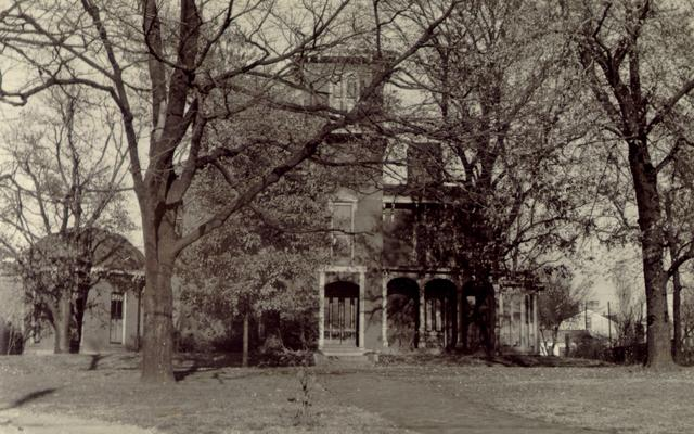 House on West Short Street, in Lexington, Kentucky, adjoining the Catholic parsonage, which occupies the site of the birthplace of Mary Todd Lincoln. The parsonage is to the right of the picture and, of course, has Mt. Alvon in it. The building in the picture is now the home of the Lexington Orphan Asylum. Parker house