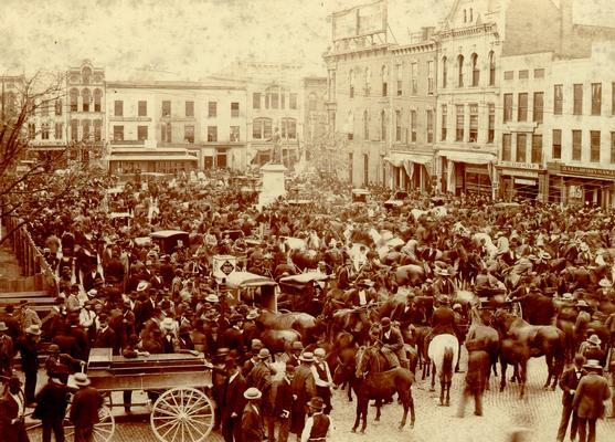 Cheapside, Lexington, KY: November Court Day, 1897; W.E. Singleton Lexington, KY