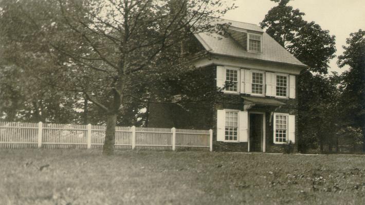 William Penn's house. Erected in 1682. G.B.K