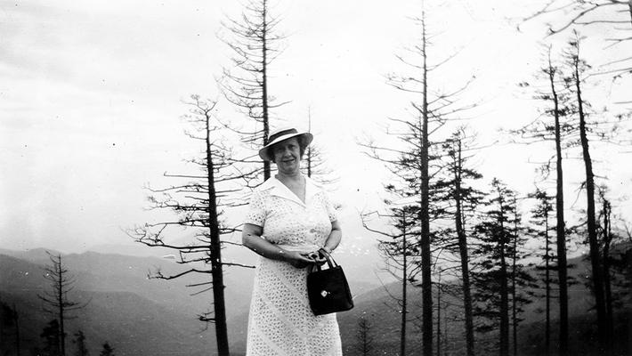 Mary Shelby Wilson, On Farmery Ridge; base of Clingman's Dome; in Great Smoky Mountains, NC