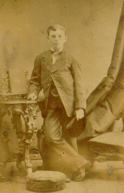 To Aunt Annie From Joe; Photograph of young boy