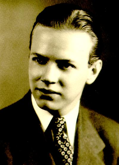 Young man; Peterson's Studio. Columbia, MO