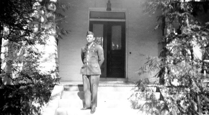 Ned Shelby in Army uniform, 'Landover'