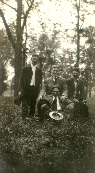 Payne's Depot. Samuel M. Wilson and three unidentified men