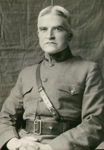 Samuel M. Wilson. Taken by U.S.A. Signal Corps, at Eperlecanes, Pas-de-Colais, France; Photograph by Lafayette Studio; Lexington, KY