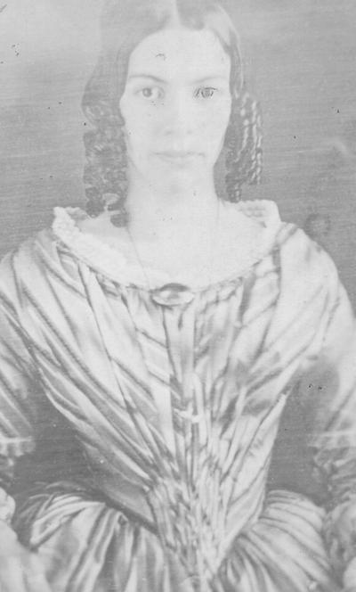 Drusilla Allen, wife of Dr. Singleton C. Wilson. Presented to me (S.M.W.) by Cousin Amanda W. Lynn