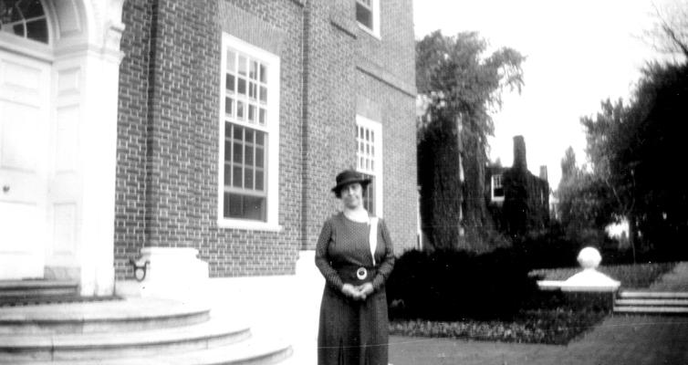 Mary Shelby Wilson at the Entrance to 'Hall of Records' Annapolis, MD