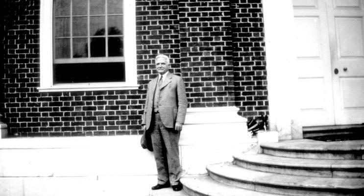 Samuel M. Wilson at the 'Hall of Records' Annapolis, MD