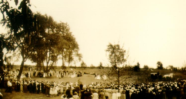 KY Female Orphans Home at Midway, KY. Pageant at Centennial Celebration