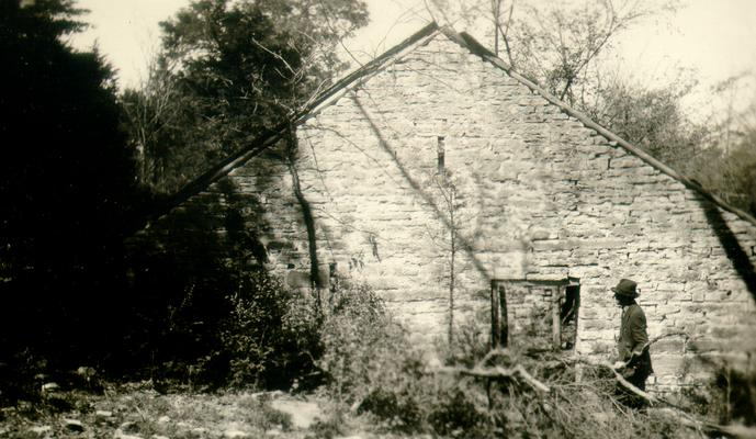 Old Block House, Paul's Mill, Clear Creek, Woodford Co., KY. Mr. C.C. Anderson