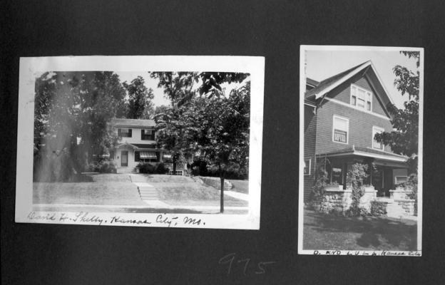 Home of David H. Shelby. Kansas City, MO; Home of D. and Lula, Kansas City