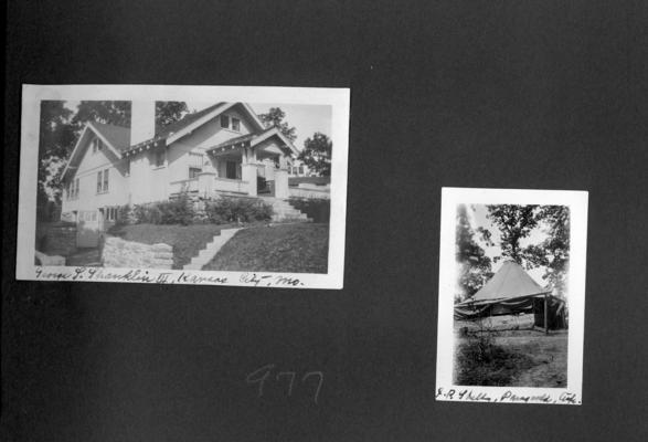Home of George L. Shanklin III: Kansas City, MO; J.R. Shelby: Ark[ansas]