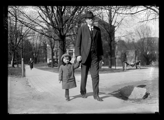 Henry Stites Barker with child (Gullion's son)