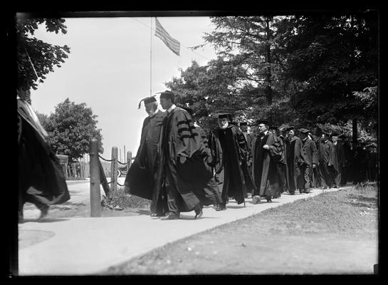 Commencement, President Patterson near center of picture