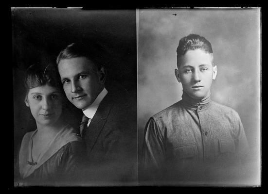 Dexter Whittinghill Ramsey with woman, Chester Bryan Helm, both killed in World War I
