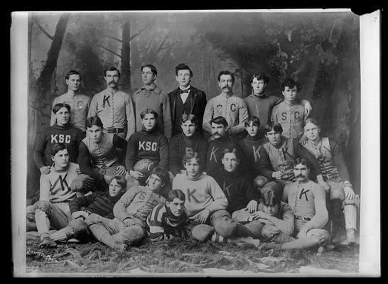 Football                         Mighty Team of 1894, football souvenir, George Carey, Captain