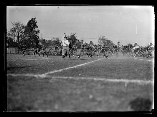 Football game, University of Louisville at Lexington, won 41-0, referee facing camera near center of picture