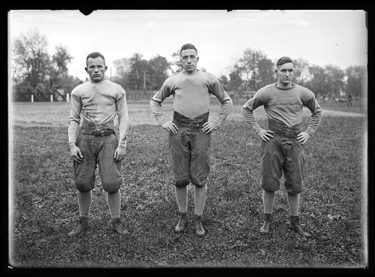 Football players in threes