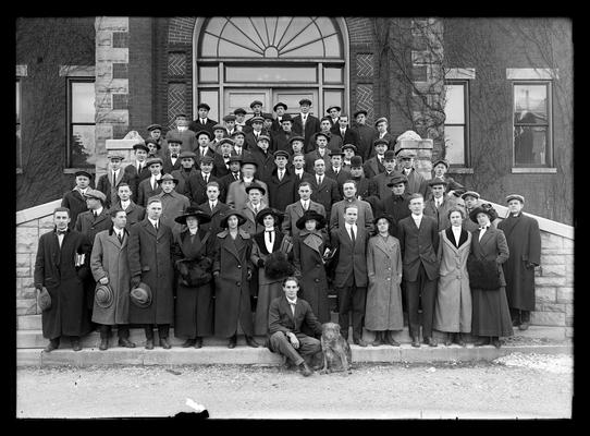 Junior class, boy with dog in front