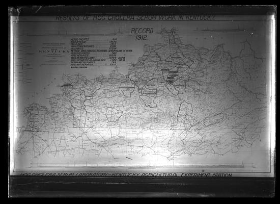Map showing results of hog cholera serum work