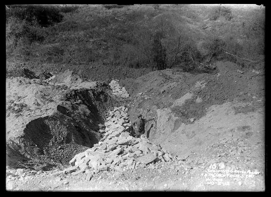16.9 showing gravel pocket, fourth ditch from south end, west side