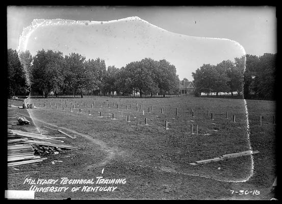 Posts for second barracks in place
