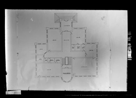 Floor plan of Miller Hall