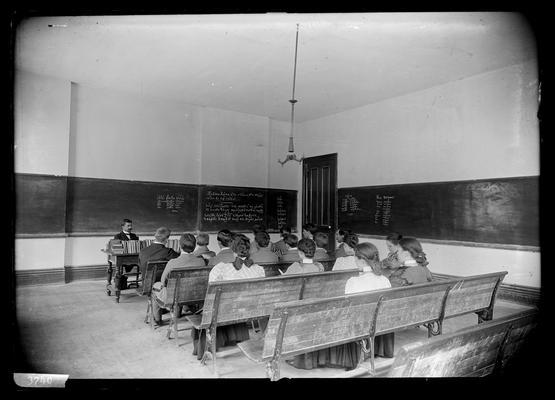 Notation Professor Blanton's room and class, April 1898