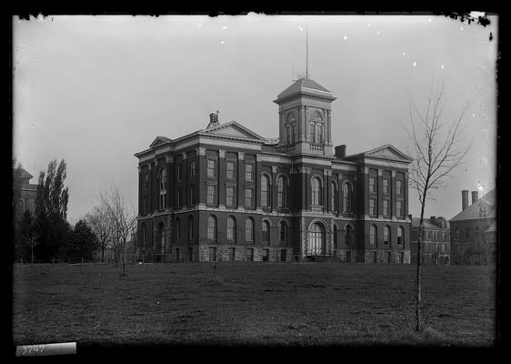 Notation Main Building, April 20, 1898, note upper part of cupola has been removed