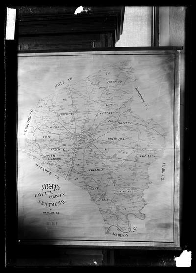 Copy, map of Fayette county by W.R. Wallis, to identify land owners
