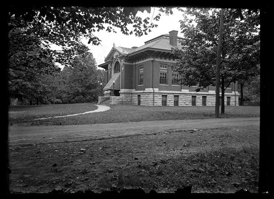 Carnegie Library, with awnings, from T.D. Boyd