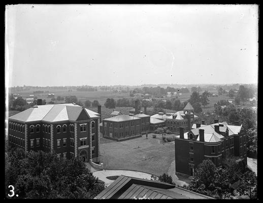 Campus view: Mechanical Hall, Miller Hall, Neville Hall