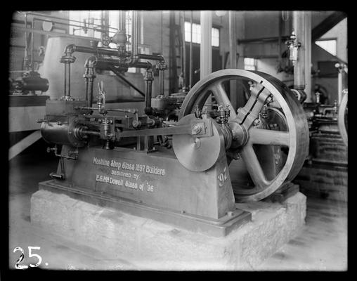 Engine, designed by McDowell 1896, built by students 1897