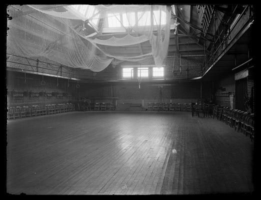 Old gymnasium, interior, in Barker Hall