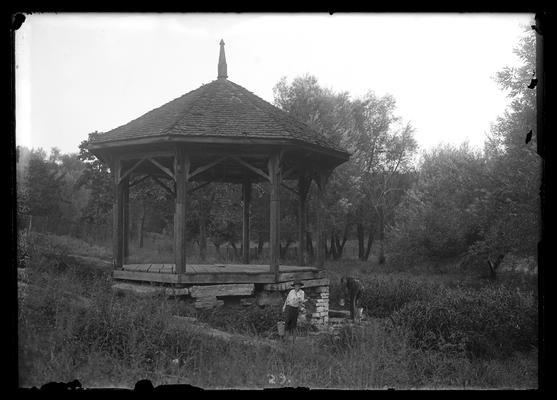 Maxwell Springs, two men drawing water