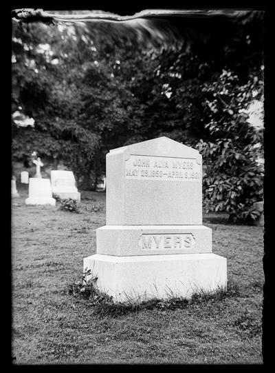 John Alva Myers monument